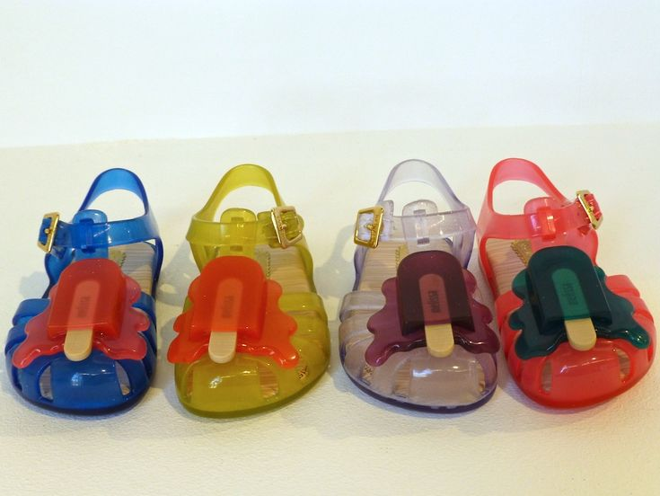 The cutest Mini Melissa shoes yet, melting ice lolly's in a spectrum of colour for spring 2016 kids footwear