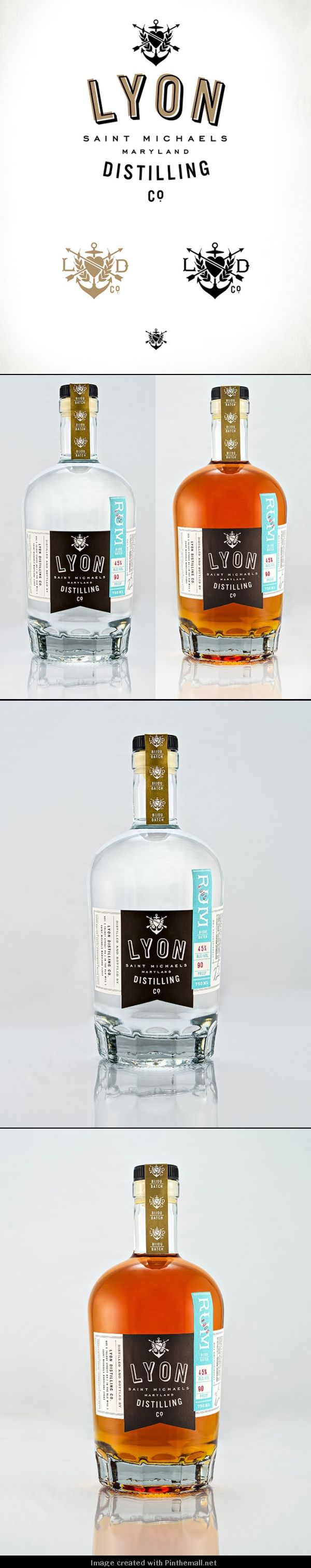 Lyon Distilling Co. Rum Identity and Packaging