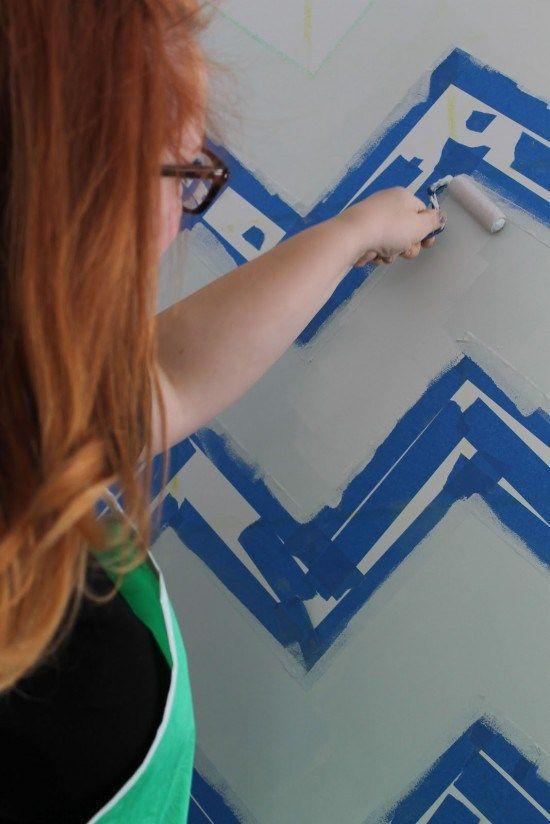 How to paint a chevron wall: I really really really wanna zig-zag aaahhhhh   Offbeat Home & Life