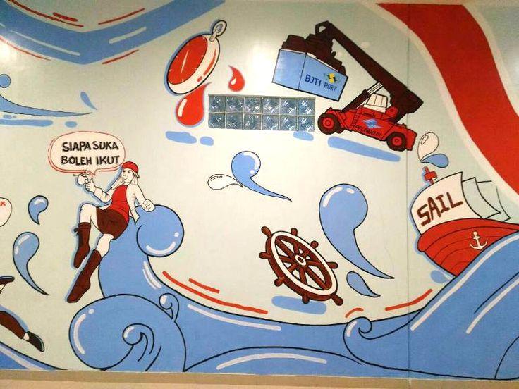 Jasa Mural Surabaya, Jasa Lukis Dinding Surabaya, Mural Tanjung Perak, Mural Surabaya, Tanjung Perak, Surabaya North Quay-Mural by iMural