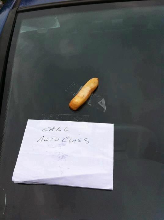 Chip on your windscreen? call Autoglass