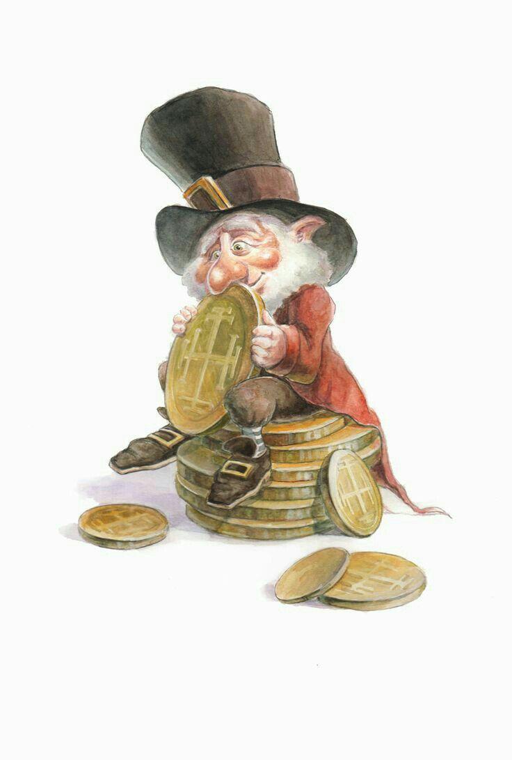 гном с деньгами картинка