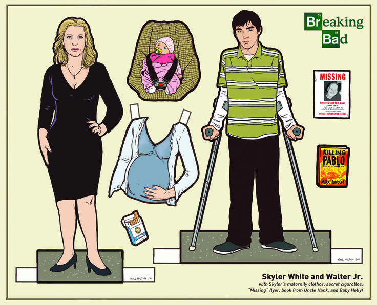 Image Detail for - Breaking Bad paper dolls by Kyle Hilton