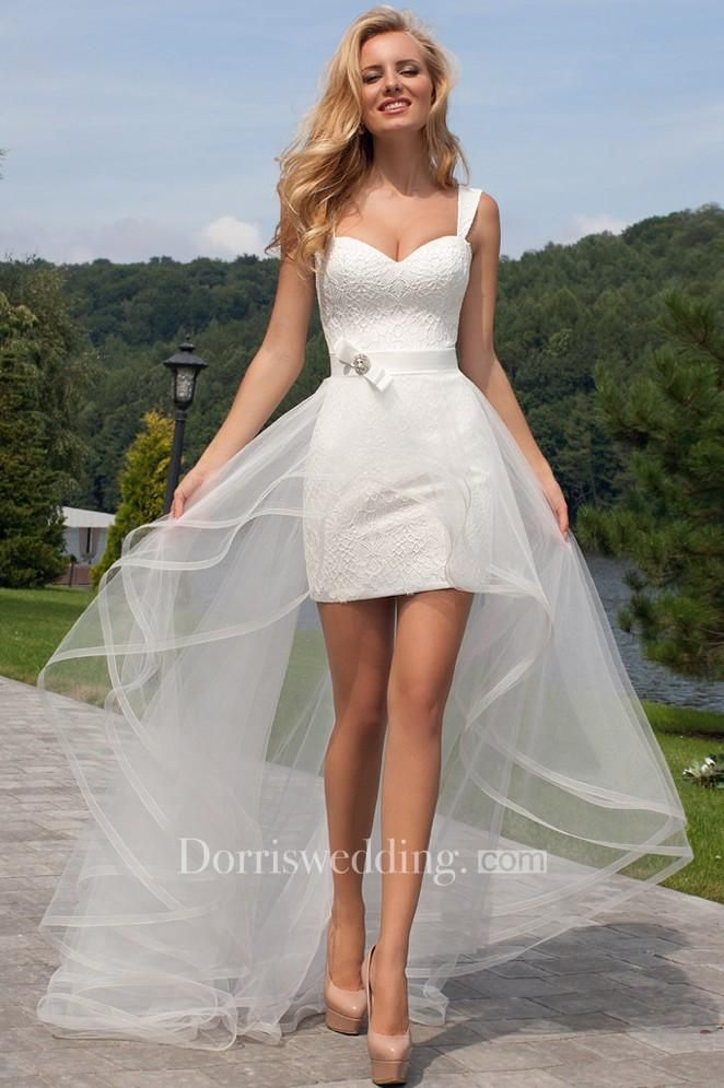Blue Corset Short Wedding Dress