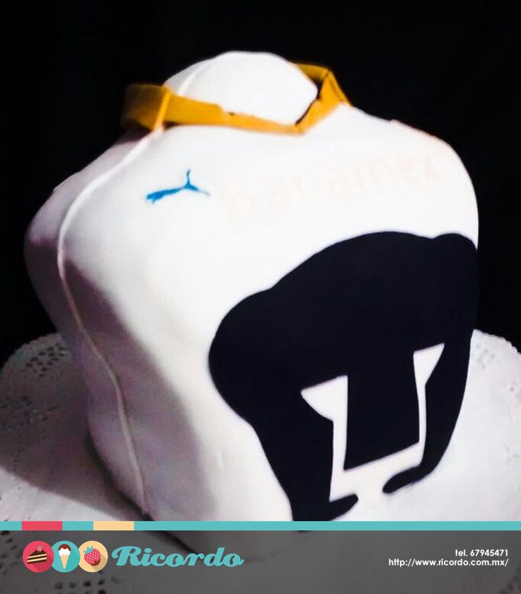 #MiercolesDeGaleria Busto de la playera de Pumas. Personalízala con tu número y nombre. #catalogoRICORDO #pastel #fondant #fondantcake #pumascu #football #futboll UNAM.mx National Autonomous University of Mexico Pumas MX