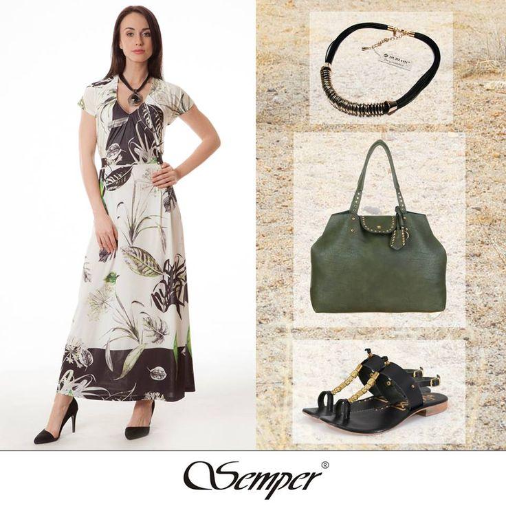 #shoponline #fashion #dress #elegantclothing #outfit #fashion #springfashion #print #maxidress #light #elegant #elegance #green #etno #print