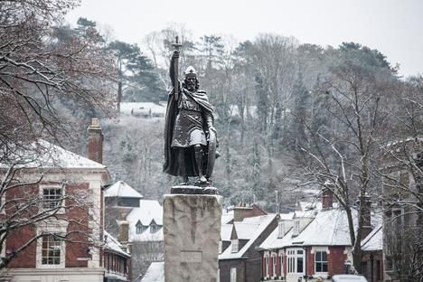King Alfred's Statue, Winchester, England (via Winchester City Council Facebook)