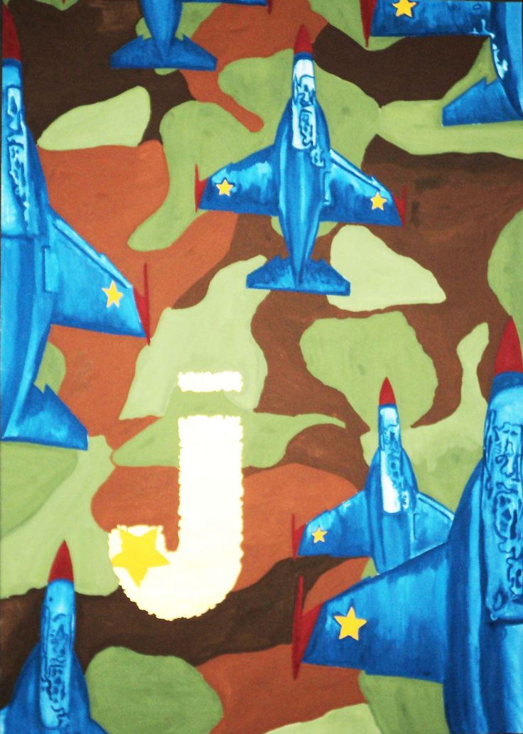 Semantic for transportation, I choose Military Jet. Initial J means Jet and color is gold means for army pins and star in 'J' means rank. Army patterns I used to change cloud.  Media: Poster Color, Water Color and Media Paper