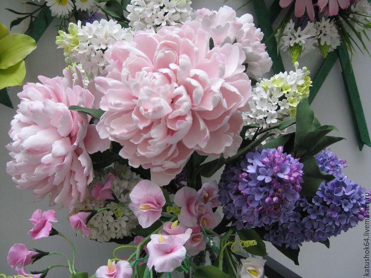 Купить Пионовый сад - подарок, подарок на любой случай, пионы, пион из полимерной глины
