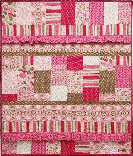 Vintage Baby Quilt Pattern...large rick rack instead of ruffles