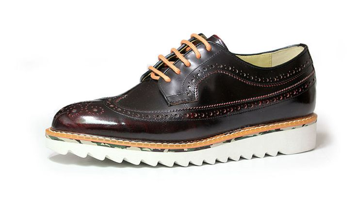 longwing brogue+shark sole_burgundy