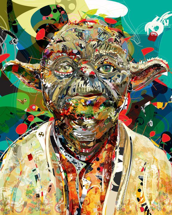 Master and padawan by Tulio Fagim, via Behance