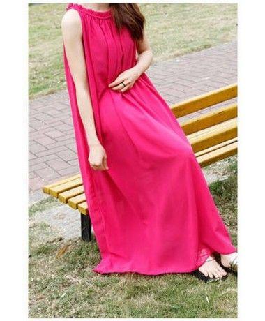 Long dress pink murah