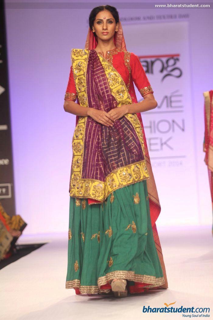 Colorful lengha. Gaurang Show at Lakme Fashion Week Summer/Resort 2014
