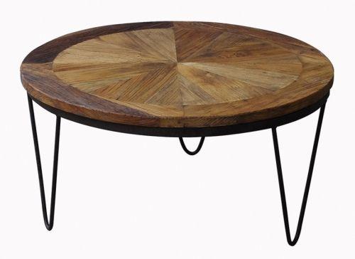 Kult Raffles sofabord i resirkulert alm og rustikt jern.Mål:Diameter 80 cmHøyde 40 cmMateriale:Resirkulert almBen i rustikt jernVedlikehold:Vi anbefaler bruk av Antikvax.(reduserer sprekker, smuss, forenkler renhold og tilfører mer fuktighet til trevirket, påføres umiddelbart.Varenummer:690908Bordet er produsert i resirkulert alm så sprekker, skjevheter og tegn på treverkets tidligere liv er en naturlig og bevisst del av produktet. Hvert enkelt bord vil være helt unikt!