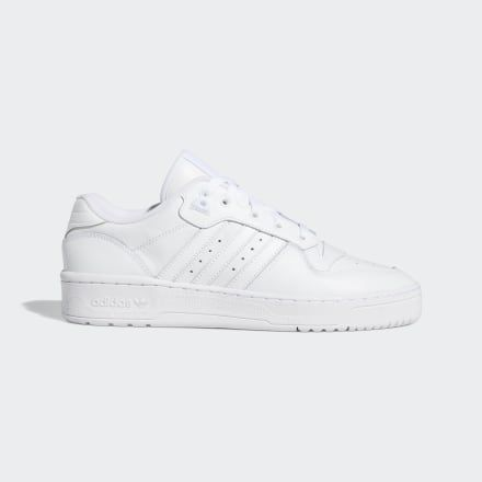 Rivalry Low Shoes White Mens in 2020 | Shoes, Adidas, Black