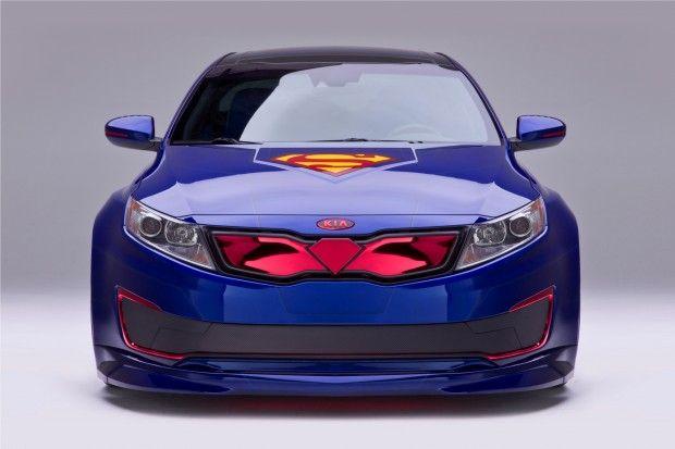 The #Superman #Kia #Optima #Hybrid #Flies #Into The #Chicago #Auto #Show