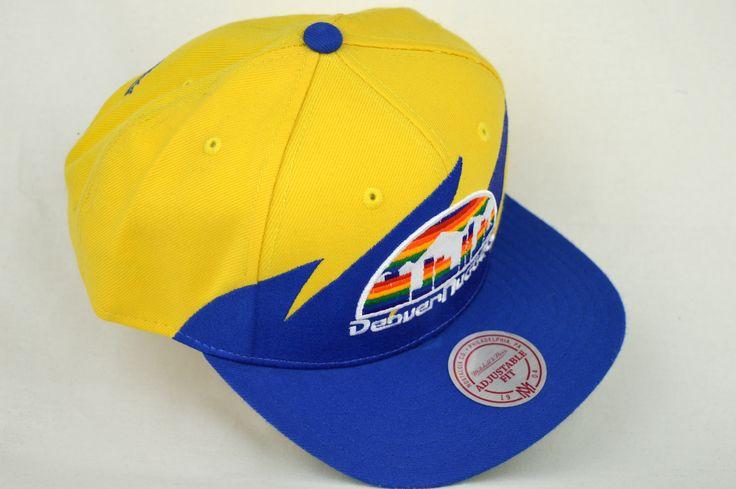 DENVER NUGGETS YELLOW/BLUE MITCHELL & NESS SHARKTOOTH SNAPBACK CAP / Toronto Snapback