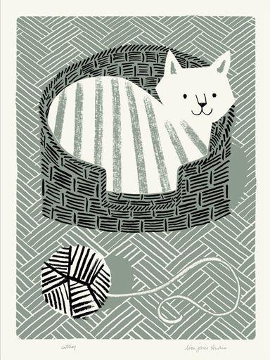 Adorable!  catnap print