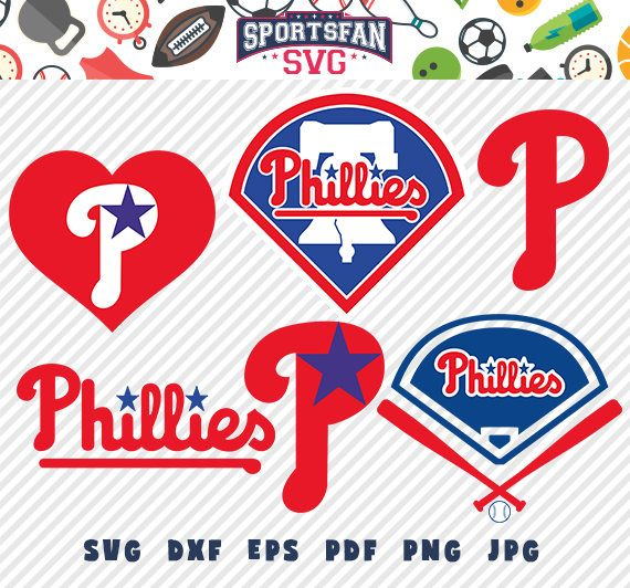 #Philadelphia #Phillies #PhiladelphiaPhillies svg pack- #baseballteam, #baseballleague, #baseball #cutfiles #vector #clipart #digitaldownload png, jpg, eps, dxf by SportsFanSVG on #Etsy