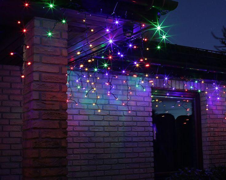 Lumières de Noël pour l'extérieur LED rideau glaçons http://www.rotopino.fr/lumieres-de-noel-pour-l-exterieur-led-rideau-glacons-multicouleur-bulinex-38-651,58154 #lumieresdenoel #noel #decoration #rotopino