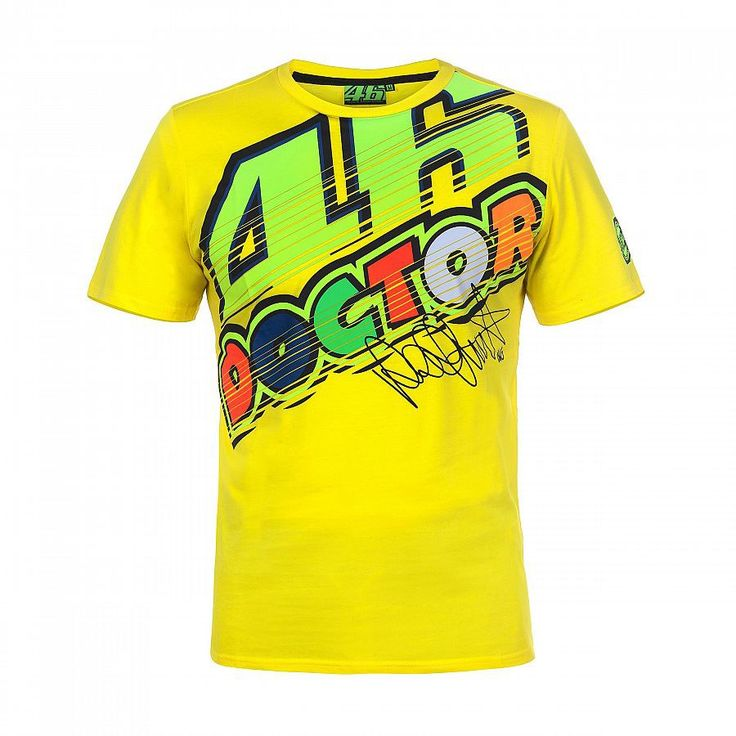 On sale US $13.76  2018 VR46 Valentino Rossi  T-Shirt  Moto GP Motorcycle Racing 46 The Doctor signature Yellow T shirt  #Valentino #Rossi #Shirt #Moto #Motorcycle #Racing #Doctor #signature #Yellow #shirt  #online  Check Discount and coupon :  14%