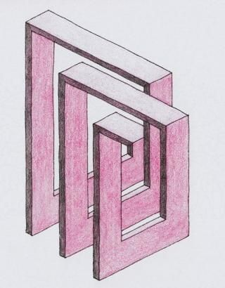 Possível ideia para a unidade de trabalho sobre isometrias. Figura impossível