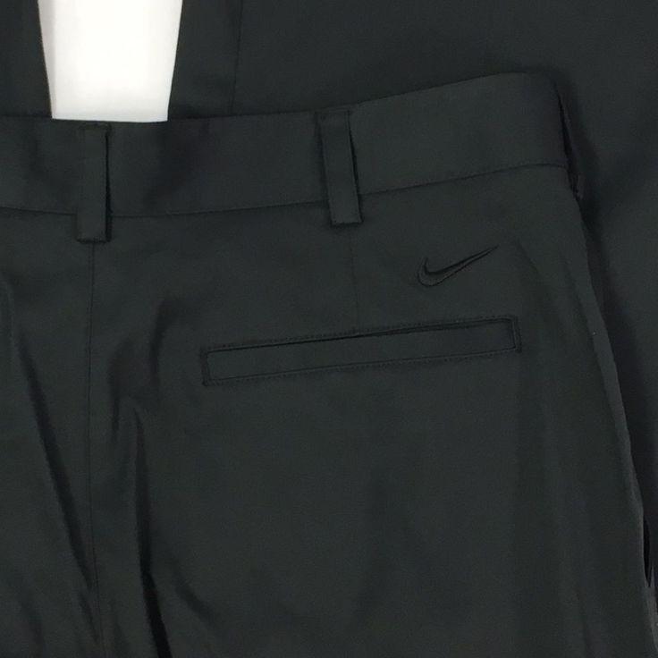 Nike Golf Dri Fit Dry Black Athletic Pants Trousers Mens Size 34 W 36 L Unhemmed #NikeGolf #Athletic