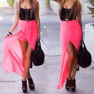 rwsb8j-l-c335x335-dress-pink-skirt-beautiful-outfit-black-neon-pink-shit-t-shirt-heels-long-skirt-red-dress-red-pink-dress-shoes-long-high-low-skirt-tulip-skirt-long-high-low-skirt-high-low-girly-ch
