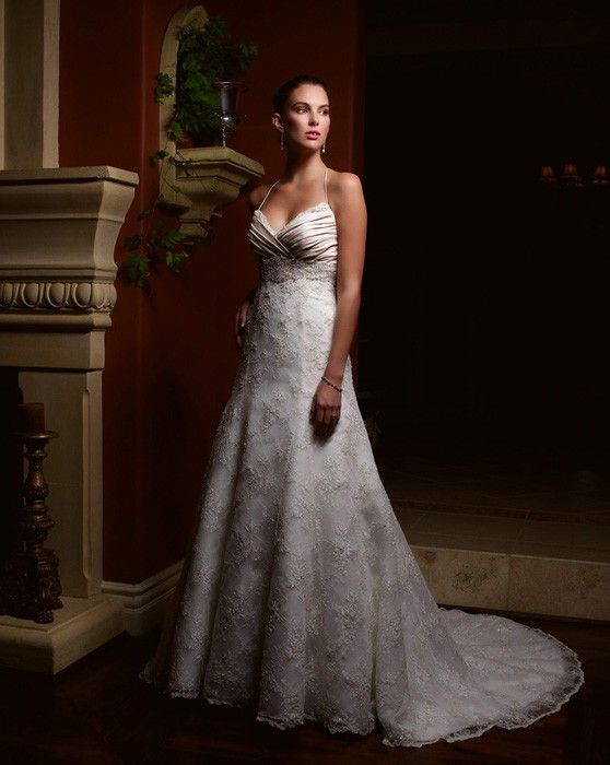 Beautiful  protector directly from China dresses gown Suppliers Custom Made Vestido De Noivas New Design Backless Appliques Lace Up Back Bridal Gown Wedding
