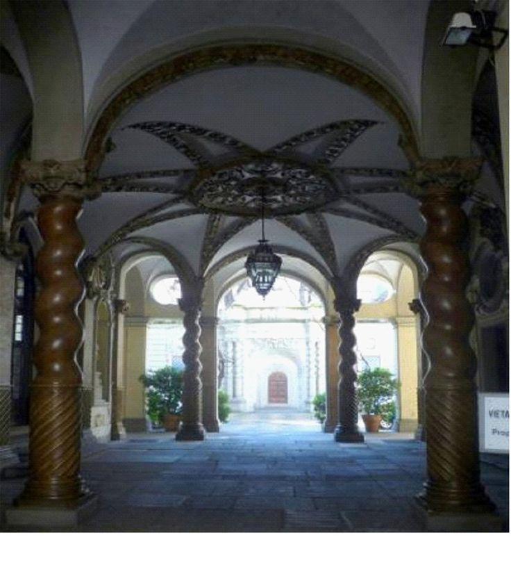 (1684 - 1700) Palazzo Asinari di San Marzano - L'accès à la cour d'honneur