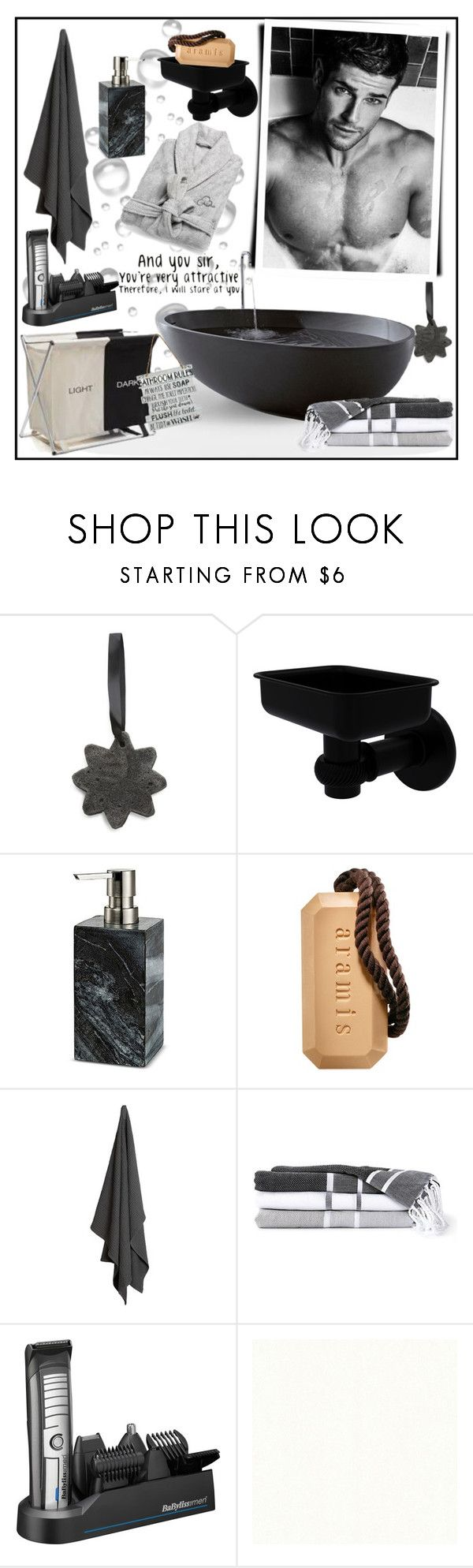"""""""ATTRACTIVE!!!"""" by kskafida ❤ liked on Polyvore featuring Allied Brass, Threshold, Aramis, The Organic Company, BaByliss, men's fashion and menswear"""