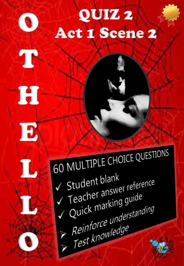 othello act 2 quiz essay Free summary and analysis of act 2, scene 3 in william shakespeare's othello that won't make you snore othello act 2 scene 3 questions and answers we promise.