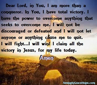 PRAYER OF STRENGTH AND VICTORY