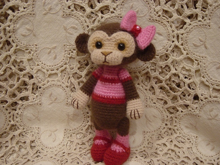 Crochet Cupcake Doll Pattern : 17 Best images about monkey on Pinterest Cute baby ...