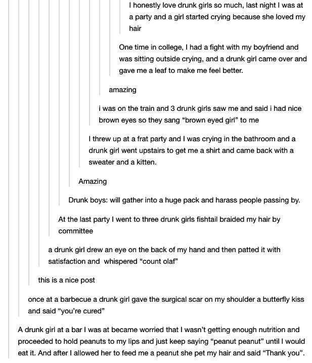 Drunk tumblr posts
