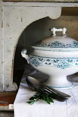 Serve homemade soup in a fabulous antique tureen!