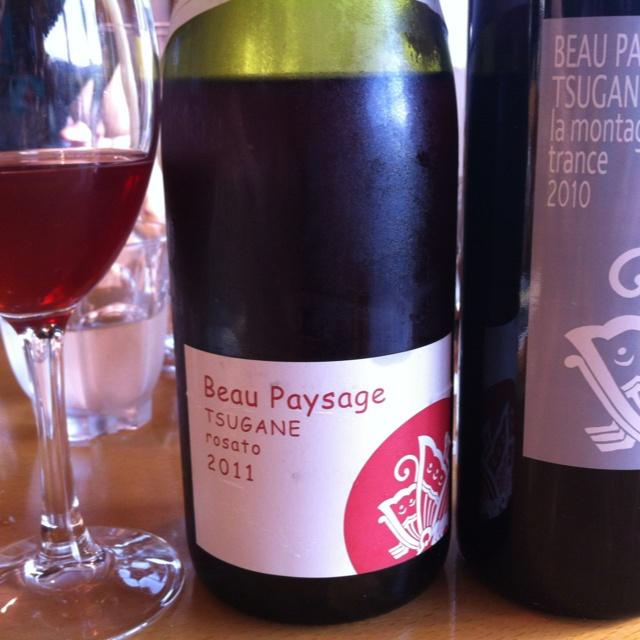 Today's wine: Beau Paysage rosato 2011 & Le Montagne trans 2010.