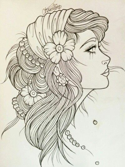 Gypsy Girl Art Gypsy girl line