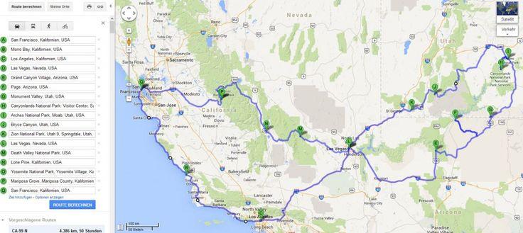 Westküste USA Rundreise - Eine Reiseroute für 3-4 Wochen