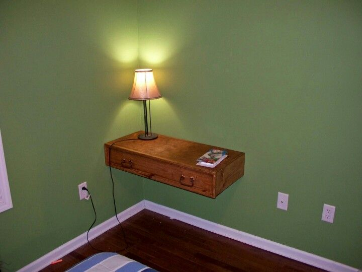 Entertainment center drawer repurposed to floating desk in for How to reuse an entertainment center