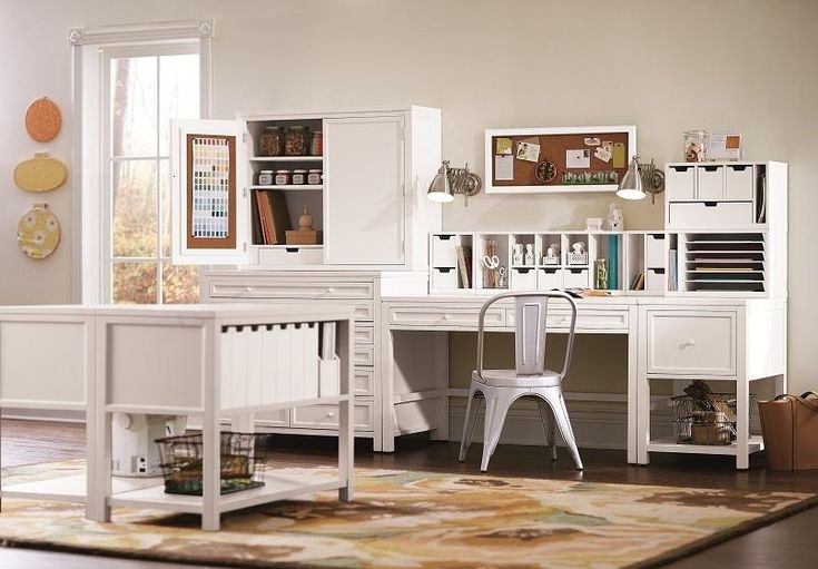 Organize crafts with our Martha Stewart Living™ Craft Space. HomeDecorators.com