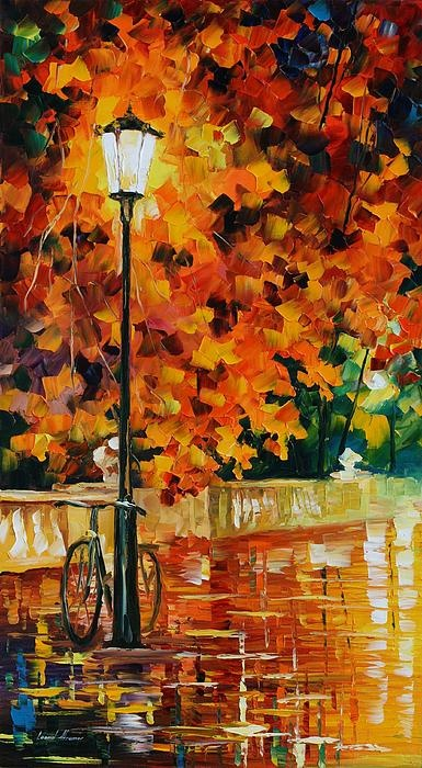 Lonely Bicycle - By Leonid Afremov