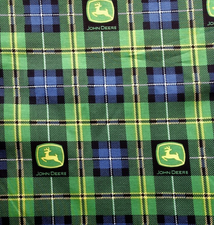 A personal favorite from my Etsy shop https://www.etsy.com/listing/489061192/john-deere-plaid-limited-112-inches-wide