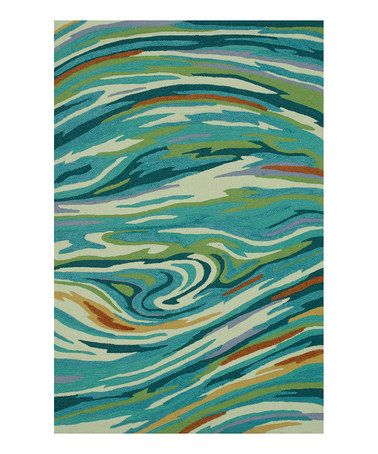 Look What I Found On Zulily Teal Swirl Olivia Rug