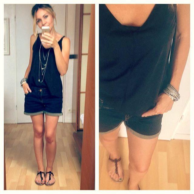 Oups...! Bien en retard ⏰!!! Mon look du jour encore estival ! #outfit #outfitoftheday #nancy #fashionblogger #blogmode #frenchgirl #tenuedujour #short #jewels #instalook #lookdujour #top @primak #outdoorswoman #outd #springoutfit #inspiration #trendy @swarovski @grain_de_malice