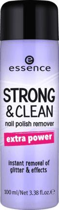 Mit extra Power: Der essence cosmetics strong&clean nail polish remover 02 entfernt ganz einfach alle Arten von Nail-Styles. Die Extra-Power-Variante...