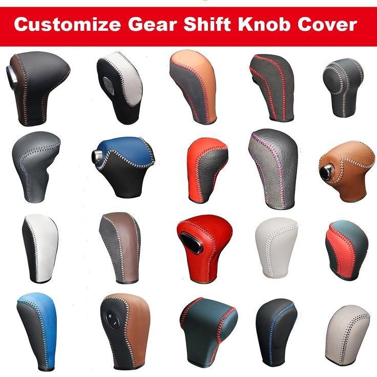 Black Genuine Leather Gear Shift Knob Cover for Infiniti FX35 FX37 FX50 /EX35 EX37 EX25 IPLG /G25 G35 G37 /QX56 QX80 QX70 QX50 /Q60 Q40 Automatic (Customization)