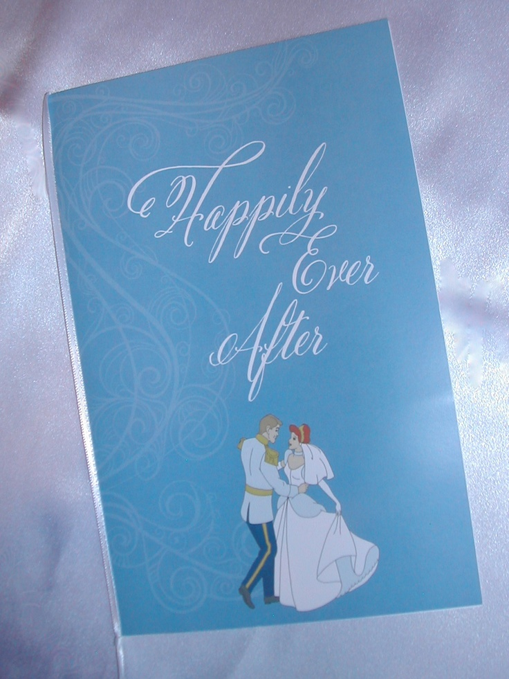Cinderella themed Wedding Program