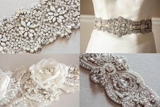 Millie Icaro Vintage Inspired Wedding Gown Belts at Allyson James Bridal & Special Occasion